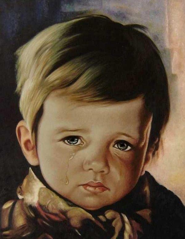 slika dečaka koji plače bruna amadija