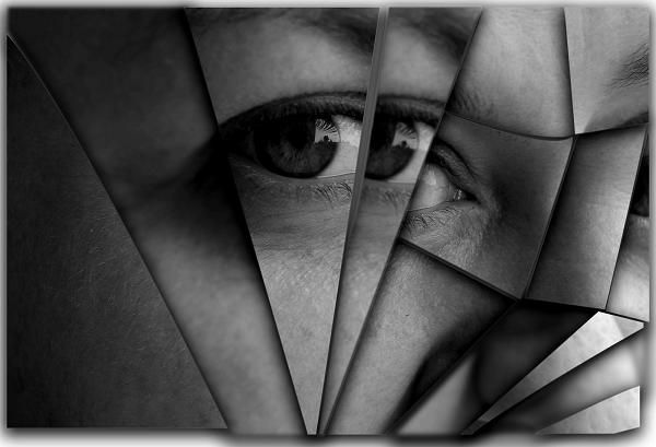 oko razbijeno u ogledalu